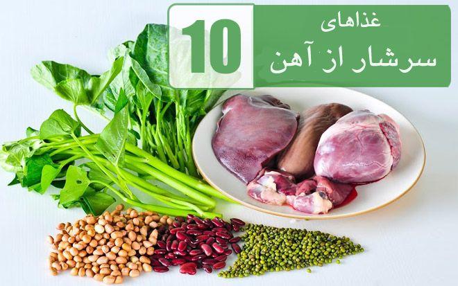 photo منابع اصلی آهن و درمان کم خونی در بین غذاها و میوه ها