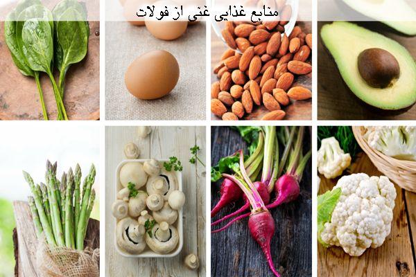 Image result for غذاهای حاوی فولات