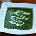 سوپ نخود شیرین و اسفناج
