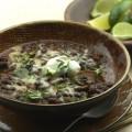 خوراک قارچ لوبیا سیاه تند با پخت آهسته